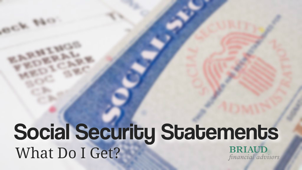 Graphic of Social Security Statement and Card